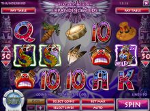 thunderbird slot playing online