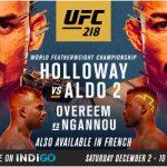 UFC 218 Betting